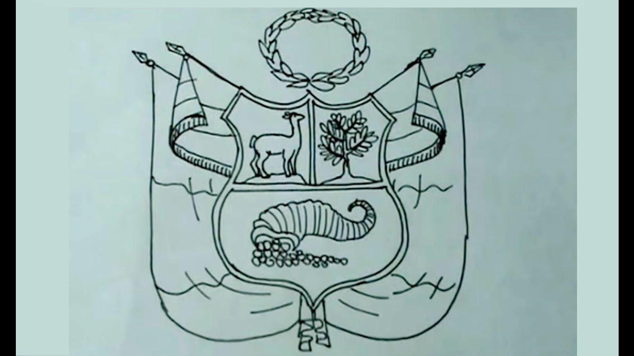 Aprende a dibujar fácil el escudo nacional del Perú - YouTube