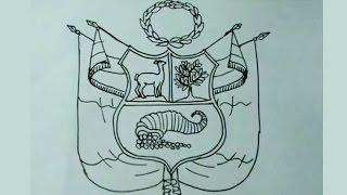 Aprende a dibujar fácil el escudo nacional del Perú