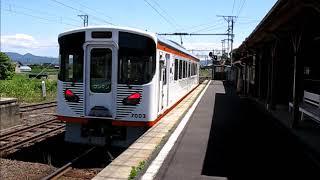 一畑口駅にて列車の発着