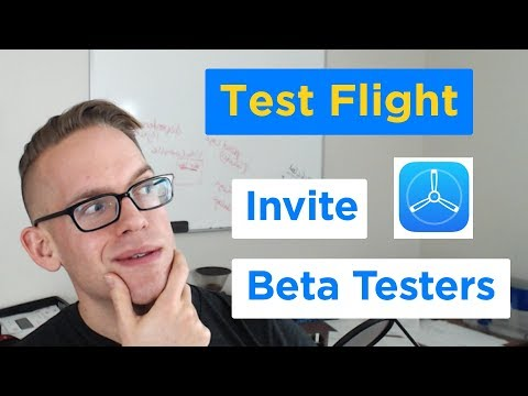 TestFlight - How To Invite IPhone App Beta Testers With ITunes Connect And Xcode 9 (2/2)