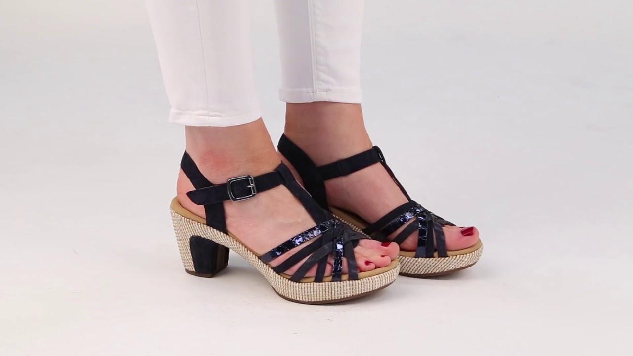 f96017d69c3 Gabor Cheri Ocean Suede Snake Womens Sandals - YouTube