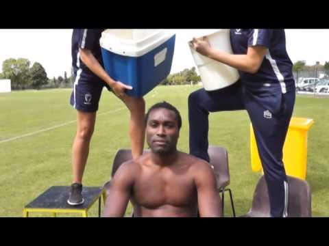 AFC Wimbledon physio takes on Ice Bucket Challenge