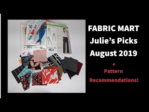 FABRIC MART Julie's Picks August 2019 Swatch Club Review