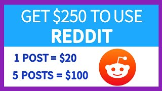 Earn $250 in 1 Hour With Reddit Available Worldwide   Make Money Online