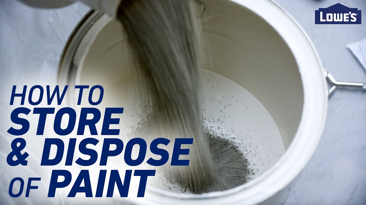 How to Store and Dispose of Paint