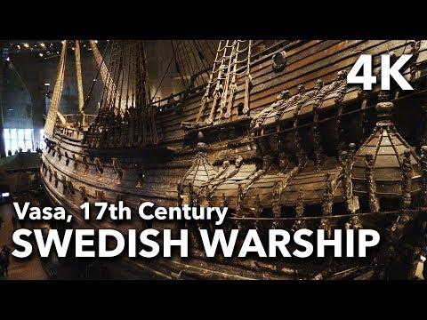 The Vasa Museum - 17th Century Swedish Warship, Stockholm, Sweden | 2017 4K