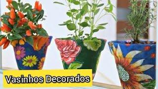 Como Decorar Vasos com Tecidos