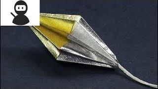 Origami 3D Diamond Christmas Ornament Craft - DIY Christmas Decoration Ideas Tutorial New 2018