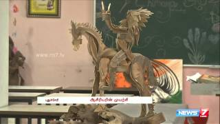 """Innovative """"Wealth Out of Waste"""" crafts at Puducherry spl tamil hot video news 01-09-2015 