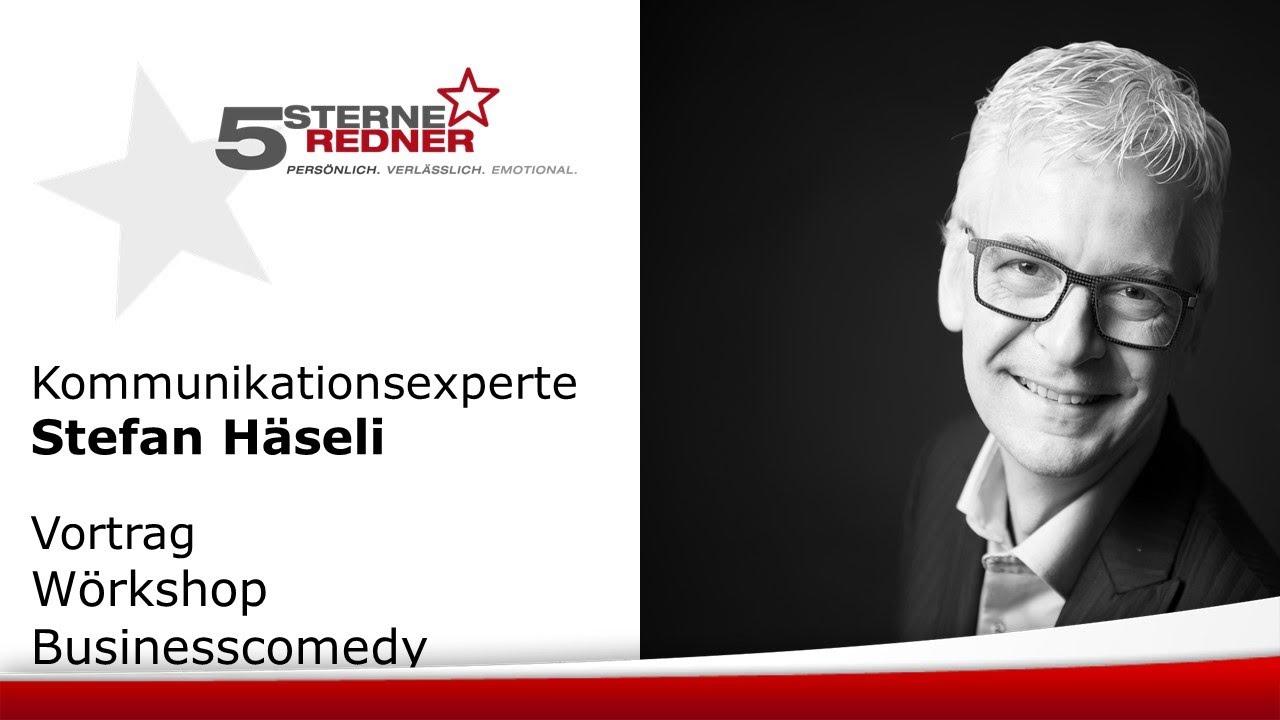 Comedian und Kommunikationsexperte Stefan Häseli: Wörkshop Businesscomedy