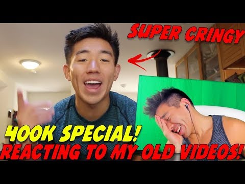 REACTING TO MY OLD VIDEOS! 400K SUBSCRIBER SPECIAL! MY FIRST VIDEO, FAVORITE VIDEOS & MORE!