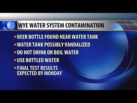 Drinking water warning: Possible contamination in Wye area water