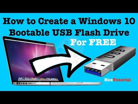 How To Create Windows 10 USB Flash Drive | Create Windows 10 USB | NexTutorial