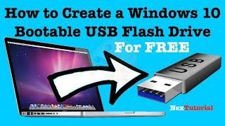 How to Create Windows 10 USB Flash Drive | How to Create Windows 10 Bootable USB | NexTutorial