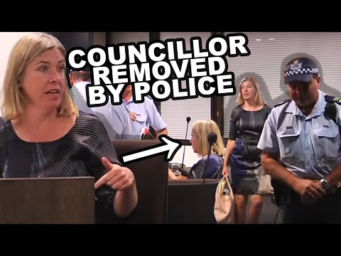 Police evict rebel Brisbane councillor Nicole Johnston -- EXCLUSIVE VIDEO