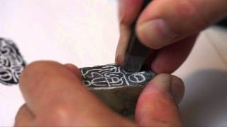 Carving a Mood Seal for Bamboo Painting