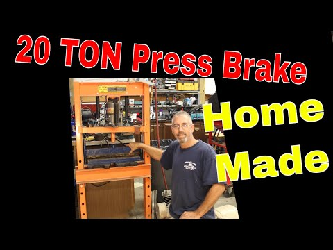 Home made 20 ton press brake, for harbor freight shop press