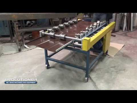 Standing seam roofing machine F3  Forming of the double standing seam roof panel