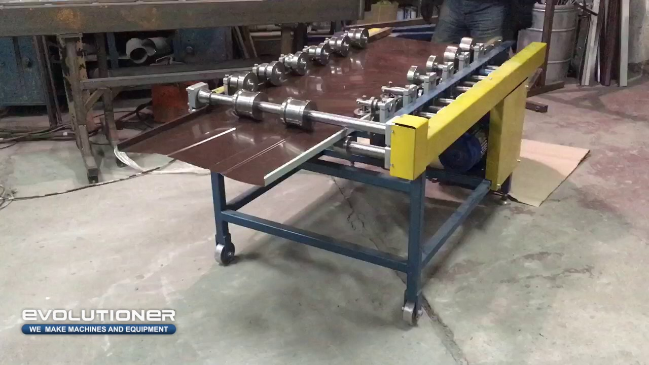 Standing Seam Roofing Machine F3 Forming Of The Double
