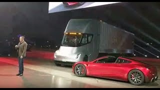 Tesla Semi Truck Roadster Reveal Front Row thumbnail
