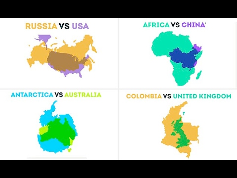 Fascinating maps reveal the true scale of countries and continents worldwide