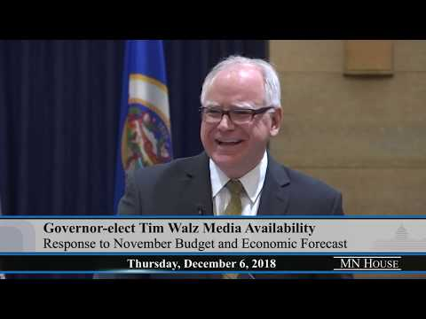 Gov.-elect Tim Walz and House/Senate DFL Media Availabilities  12/6/18