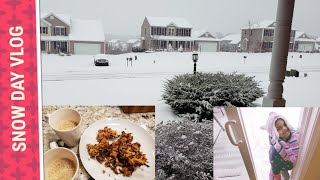 SNOW DAY IN USA VLOG | HOW WE SPEND OUR SNOW DAYS | priyameena manoharan