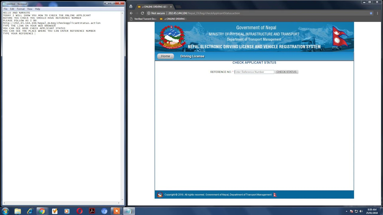 How to check online driving license status 2018