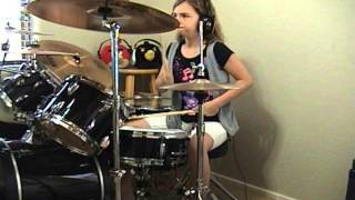 "THE CARS ""Just What I Needed"" a drum cover by Emily"
