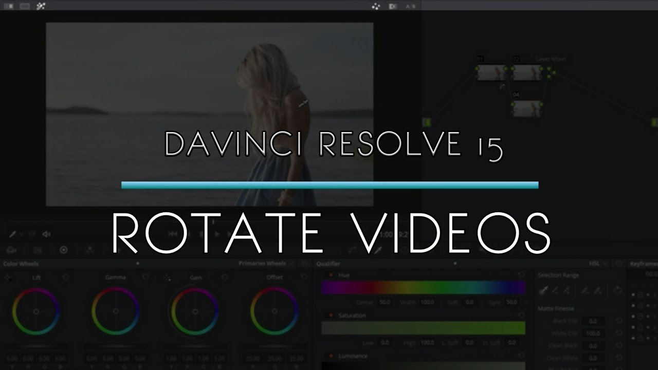 Download Davinci Resolve 15 - How to rotate a video 90 degrees