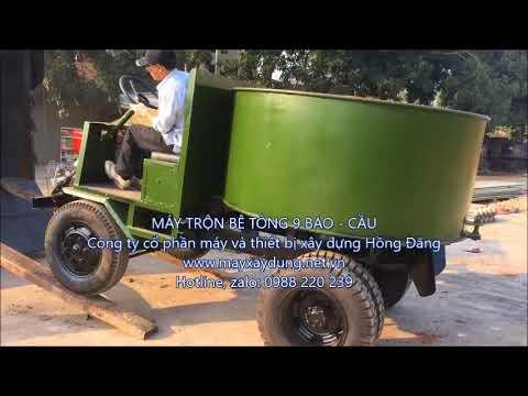 máy trộn bê tông 6 bao, máy trộn bê tông 9 bao, máy trộn bê tông tự hành 0988220239 - YouTube