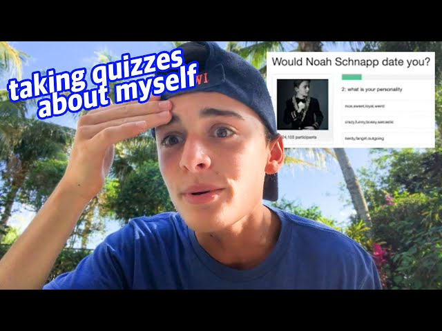 Taking Online Quizzes About Myself | Noah Schnapp