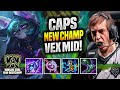 CAPS FIRST TIME NEW CHAMP! - G2 Caps Plays Vex MID vs Sylas! | Patch 11.19
