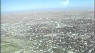 August 1979 aerial of Bismarck, North Dakota