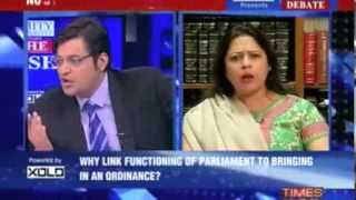How Dare You Say, I Take Money? Arnab Goswami Asks Ms. Meenakshi Lekhi