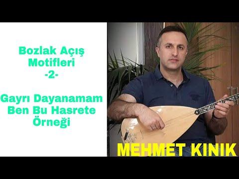 Mehmet Kınık Bozlak Açış Motifleri - 2 (Gayrı Dayanamam Ben Bu Hasrete Örneği)