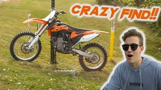 FINDING A NEW DIRTBIKE ON THE SIDE OF THE ROAD!!