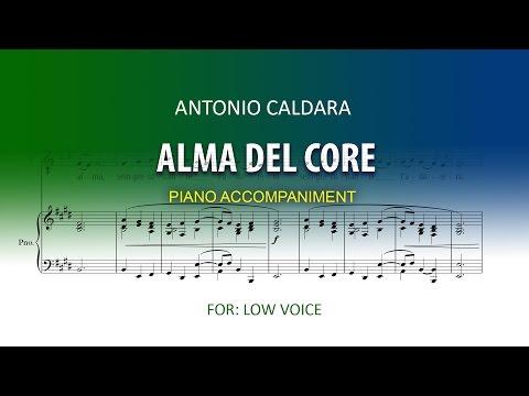 Alma del core / Caldara / Karaoke piano Low voice