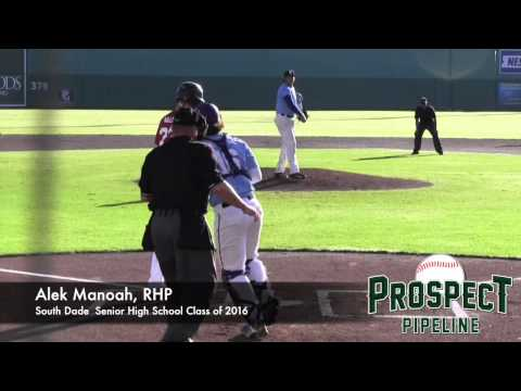 Alek Manoah Prospect Video, RHP, South Dade Senior High School Class of 2016