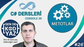 C# Dersleri, C# Metotlar (C# Methods), Visual Studio C# Dersleri
