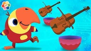 Vocabu-Larry-o Abre Huevos Sorpresa con Instrumentos Musicales | BabyFirst Español
