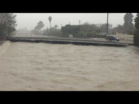 FLOODING -January 22, 2017 Long Beach, CA corner of Palo Verde and Willow Street