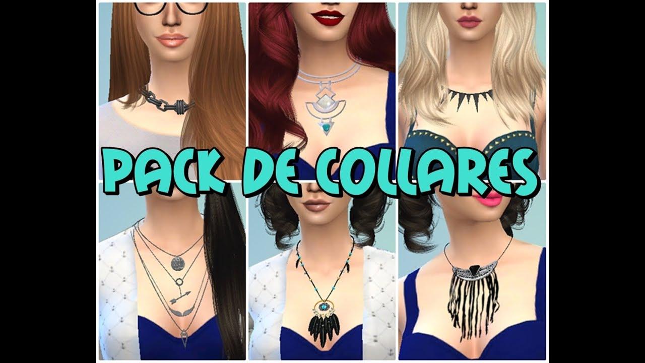 Pack de collares en Los Sims 4