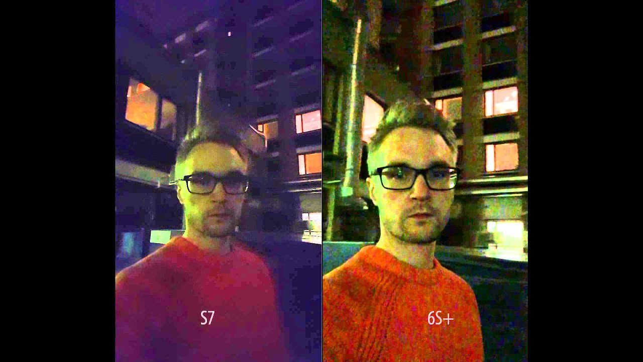 Samsung galaxy s7 vs lg g5 vs apple iphone 6s vs samsung galaxy s6 - Galaxy S7 Vs Iphone 6s Plus Low Light Video Front Camera