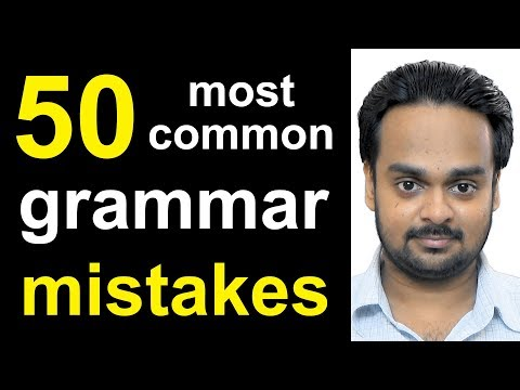 50 MOST COMMON MISTAKES In English Grammar - Error Identification & Correction