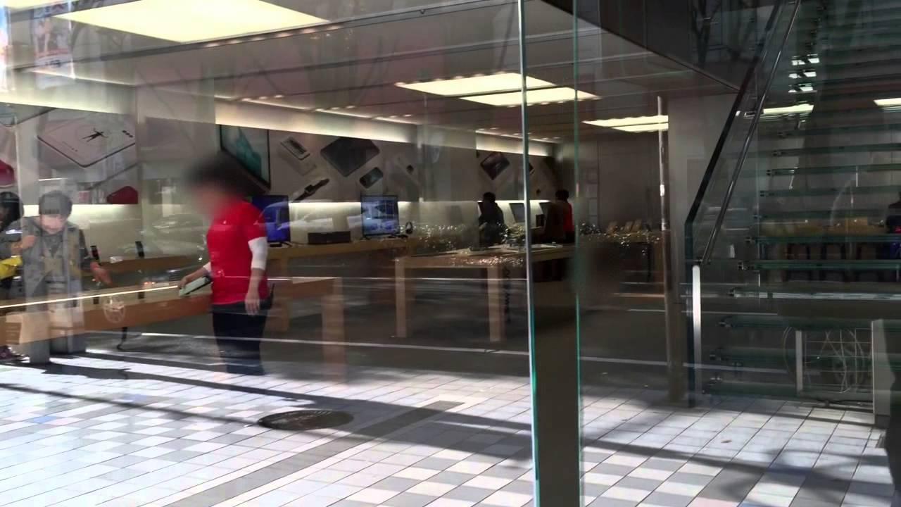 Apple store 名古屋 栄に行って見た ぼかし - YouTube