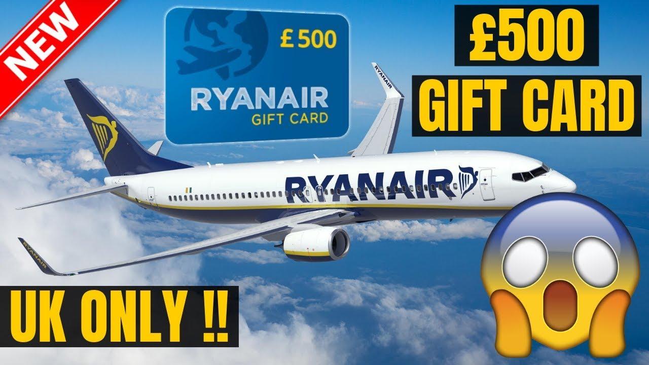 Ryanair Gift Card - UK Only: Get A £500 Ryanair Gift Card |2019