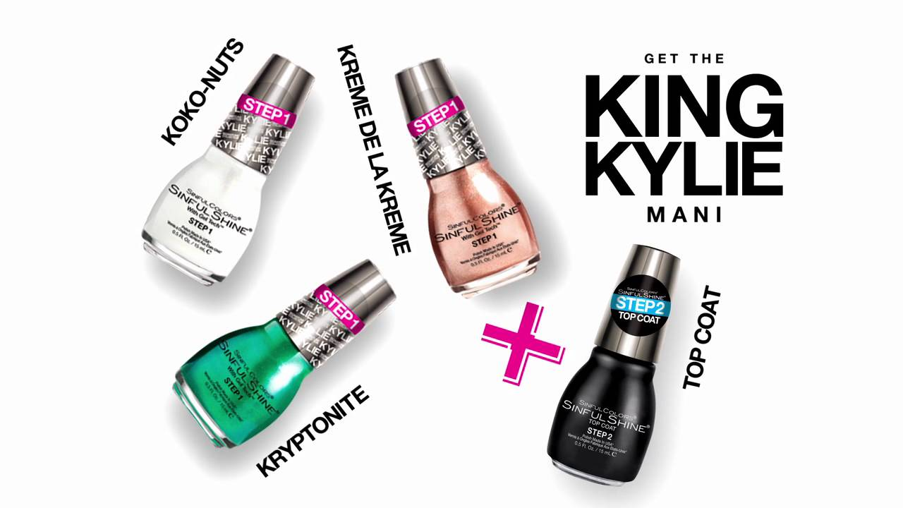 Kylie Jenner KingKylie SInfulColors Mani - YouTube