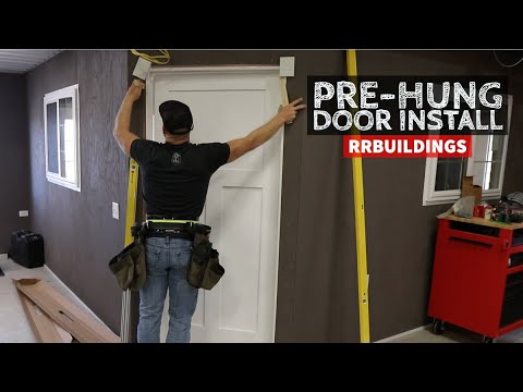 How To Install A Pre Hung Door In Under 10 Minutes You