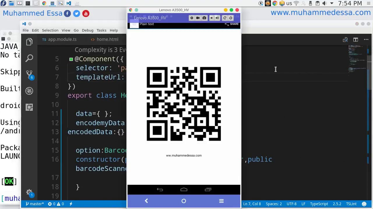 81 Ionic 3 Barcode & QR Encode & decode